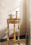 Blumenständer/Hocker Holz 85x48 Antik Beistelltisch Telefontisch Gold Barock