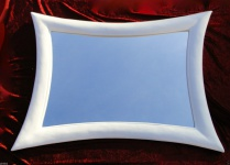 Wandspiegel Weiß Friseurspiegel MODERN 115x85 Retro Wandspiegel Groß Flurspiegel
