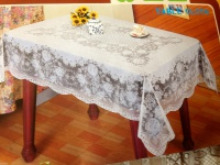 Tischdecke abwaschbar vinly Tisch decken Groß 150x228cm hellbraun-Weiß schutz