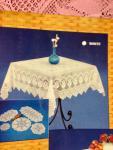 Spitzen Tischdecke häkelspitze Optik Altrosa Spitze Polyester 110x160 Bestickt