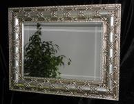 Wandspiegel Silber Groß Antik Frisieur Flurpiegel Barock Jugenstil Badspiegel