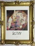 Bild mit Rahmen Gustav Klimt Die JUNGFRAU Wandbild 90x70 Gerahmte Bilder