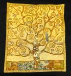 Wandteppich Gobelin 80 cm X 70 cm Lebensbaum Gustav Klimt Neu