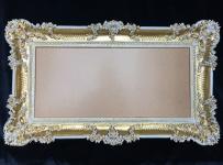 Barock Wandspiegel Gold-weiß Spiegel Antik WANDDEKO 97x57 Badspiegel