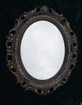 Wandspiegel Schwarz Gold Barock Shabby Spiegel Oval 58x68 BAROCK Antik Neu 120
