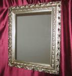 Wandspiegel 43x36 Spiegel BAROCK Rechteckig Antik 3059 ANTIKSILBER Arabesco 2