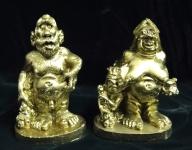 Steinzeitmenschen Familie Mann Frau und Kind 14x9x6cm Deko Standfigur