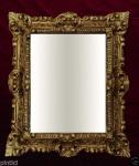 Wandspiegel Gold Barock 45x37 Spiegel Badspiegel Flurspiegel Rechteckig Antik