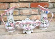 3 teilige Dekorative Blumen Vasen Set jardienere 19 cm Neu Dekorative Vasen