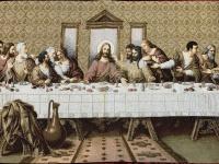 Wandteppich Gobelin 125X70cm 12 Apostel Abendmahl von Leonardo Da Vinci