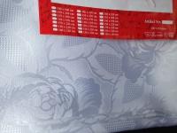 10 x Tischdecke 110 cmx150 cm Weiß Polyester Rosen Blumen Angebot Restposten