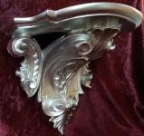 Wandkonsole Konsole Barock Alt Silber 29x25 Wandregale Antik Spiegelkonsole c77