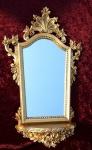 Wandspiegel barock mit konsole gold spiegel ablage antik 78x50 oval kaufen bei pintici - Konsole mit spiegel ...