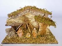 Bethlehem Krippe mit Licht 40x25 Weinachtskrippen mit Figuren Christi Geburt