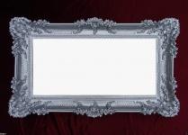 Wandspiegel Barock SILBER Spiegel Antik Repro 97x57 Groß