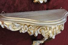 Vintage Wandkonsole Gold-Weiss Konsole Spiegelablage Antik BAROCK Regale ablage
