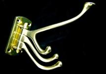 Wandhaken Garderobenhaken Kleiderhaken Antik Messing Gold 13x15 Haken 1080362