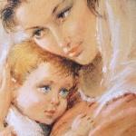 Bild Frau und Baby Wandbild 30x40 heilige Bilder maria Mutter mit Baby