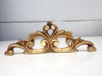 Wanddeko Barock Wandbehang Gold Deko 19x6, 5 Wandrelief Deko Antik C1538