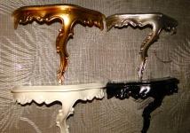 Wandspiegel Konsole 23, 5x18x 10 Antik Gold Regale mini Ablage Telefontisch