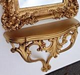 Wandkonsole Antik Gold Barock Konsole 56x45 ANTIK Wandspiegelkonsole Wandregal