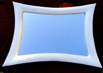 Wandspiegel Weiß Hochglanz Flurspiegel Friseurspiegel MODERN 115x85 Bilderrahmen