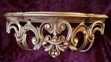 Regal Wandkonsole Gold BAROCK SpiegelKONSOLE 50x20x24 ANTIK ornamente C72