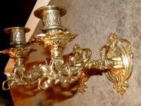 Wandkerzenleuchter Messing Wandkerzenhalter, Klavierleuchter Kerzenständer