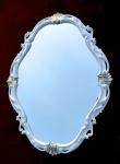 Barock Wandspiegel Weiß Silber Spiegel Antik Wanddeko Badspiegel Shabby C26SV