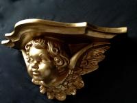Wandkonsole Antik Gold BAROCK 29x13cm Ablage Wandspiegel Konsole cp78 Regal