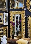 Großer Barock Wandspiegel Gold 190x80 Standspiegel Spiegel Ornament Flurspiegel