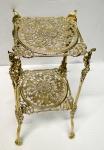 Blumenständer Messing 46x25 Antik Blumenhocker Telefontisch Gold Tisch 1082294