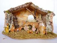 Bethlehem Krippe Heiligabend Weinachtskrippen mit Figuren Christi Geburt 60x40