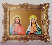Gemälde Jesus Christus Heilige Maria religiöse Bilder 56x46 Heiligenbilder
