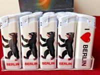 50 x Feuerzeuge Berlin Motiv nachfüllbare lighter wiederauffüllbar Berlinerbär