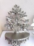 Wandkonsole Antik/Spiegelkonsolen/Barock Antik Silber H:35cm/B:27cm Vintage
