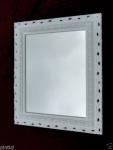Wandspiegel Antik weiß Spiegel Barock43x36 Rechteckig Badspiegel 103059 Arabesco