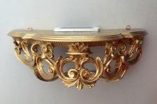 Wandkonsole Barock Gold Telefontisch/Spiegelkonsolen 40x17 Wandregal ANTIK cp74