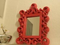 Spiegel Wandspiegel 64 X 54 BAROCK ROT Venezia 09 1