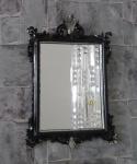 Wandspiegel Barock Antik Schwarz Silber 36x24 Badspiegel Modern Flurspiegel C12M