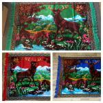 Wandteppich aus Italien 170 cm X 120 cm Hirsch, Bambi, Reh Wandbehang Unikat