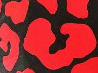 2x Kissenhüllen Kissenbezüge Sofakissen Rot-Schwarz 45x45cm Ornamente reißversch