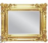Wandspiegel Gold Antik Spiegel Barock rechteckig WAND DEKO 60x50 Badspiegel
