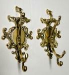 2 x Wandhaken Garderobenhaken Kleiderhaken Messing Gold 11x17 Art 80315