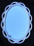 Wandspiegel Spiegel SILBER GROSS Oval- BADSPIEGEL 120 x 90 020G Flurspiegel