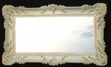 Wandspiegel Barock Antik Weiß-Gold Spiegel WANDDEKO 97x57 Flurspiegel