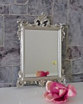 Wandspiegel Barock Antik Silber 36x24 Badspiegel Modern Flurspiegel C12M