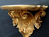 Wandkonsole Konsole Barock Gold 29x25 Wandregale Antik Spiegelkonsole cp77