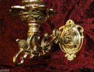 Klavierleuchter Antik Wandkerzenhalter Messing Wandkerzenständer Kerzenleuchter