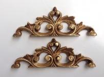 2 x Wanddeko Barock Wandbehang Gold Deko 19x6, 5 Wandrelief Deko Antik C1538